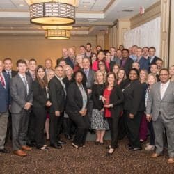 Siemens small business awardees pose together