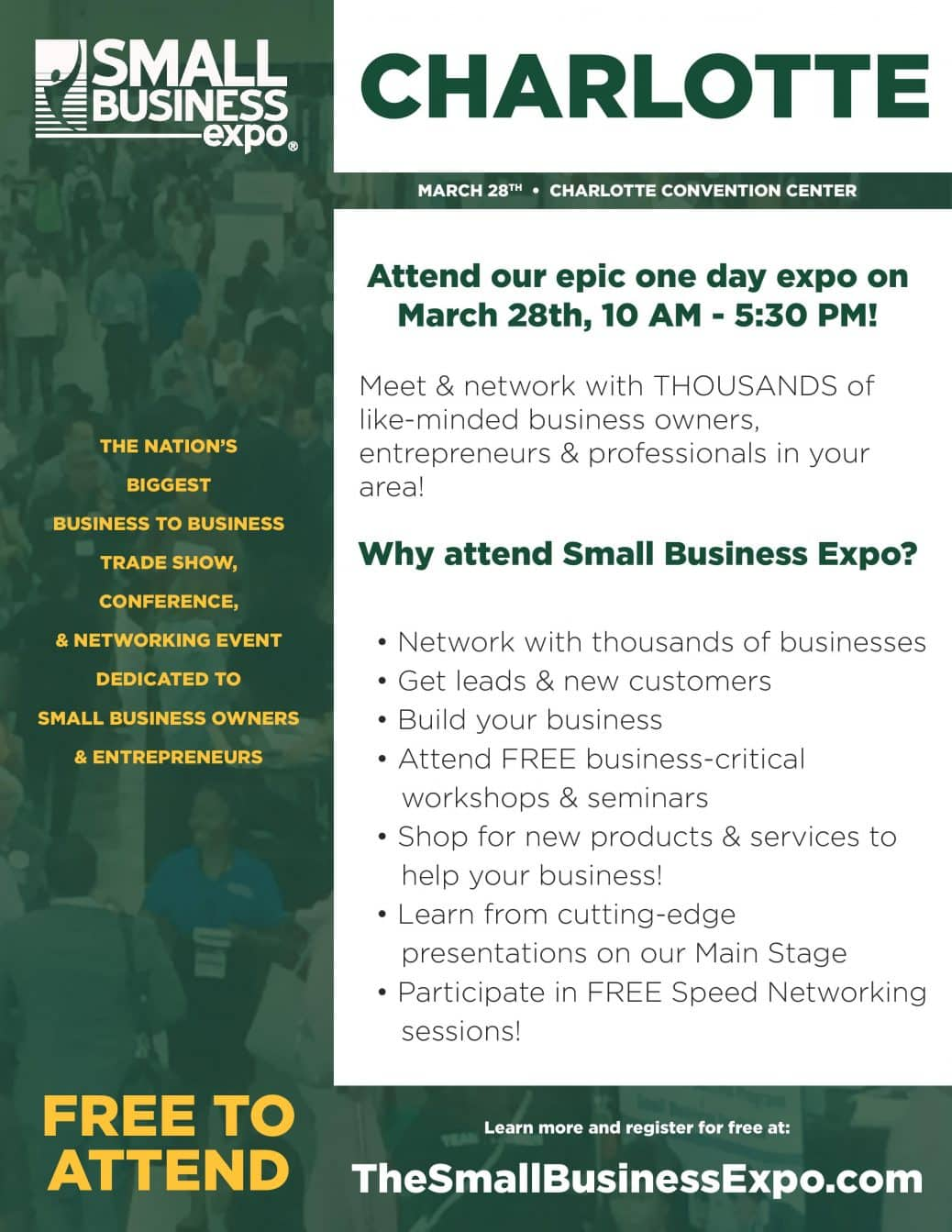 Small Business Expo- Charlotte - Professional Woman's