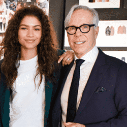 Tommy Hilfiger poses with Zendaya