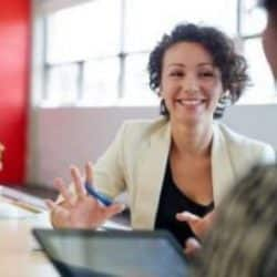Hiring manager interviewing potential candidate for a job